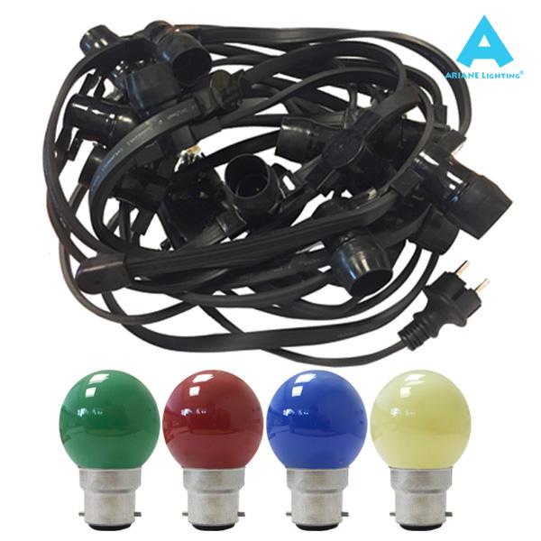 Pack 24 Ampoules Incandescentes B22 15w Sphérique Couleur Ampoules