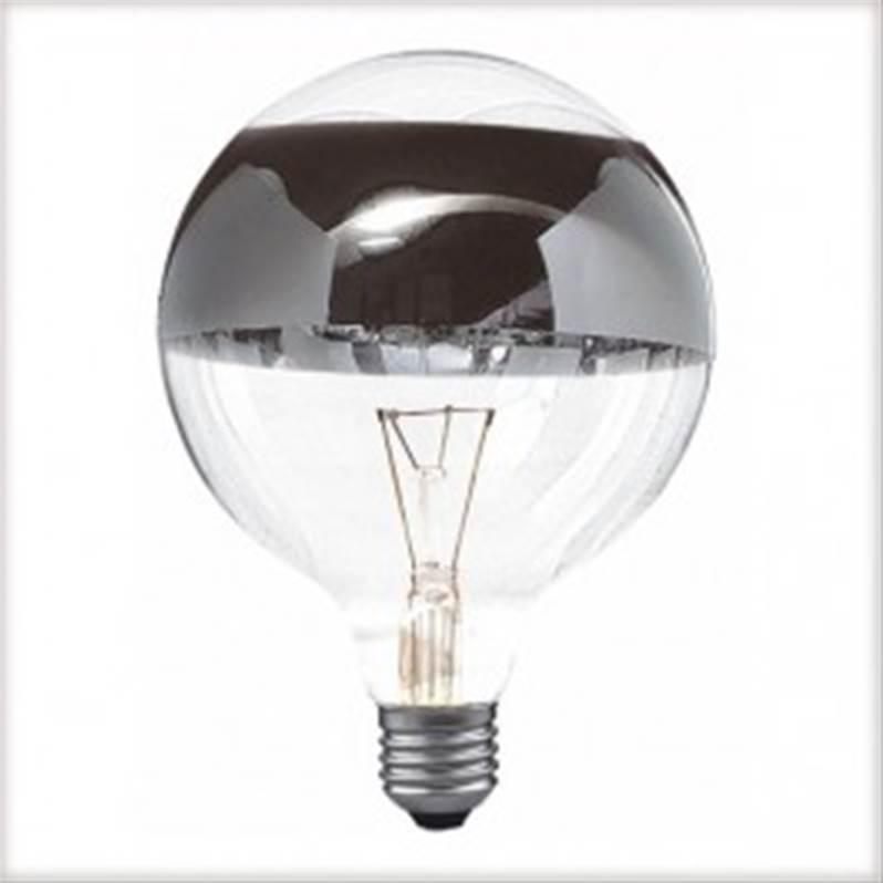 ampoule incandescence e27 globe 60w anneau argent. Black Bedroom Furniture Sets. Home Design Ideas