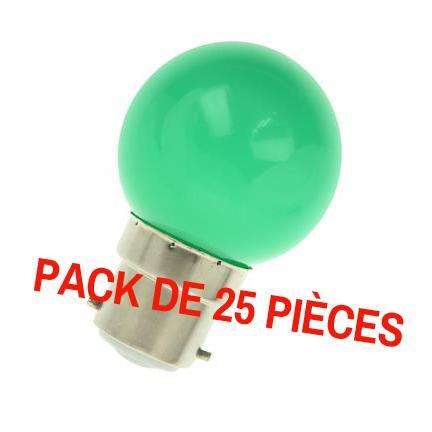 ampoule led b22 pour guirlande 1w pack de 25. Black Bedroom Furniture Sets. Home Design Ideas