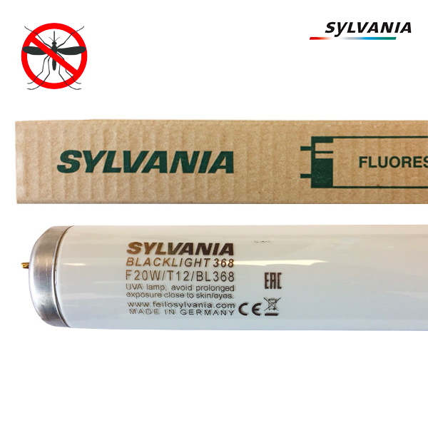 Tube fluorescent G13 T12 20W BlackLight BL368 Linear Non Gainé Sylvania
