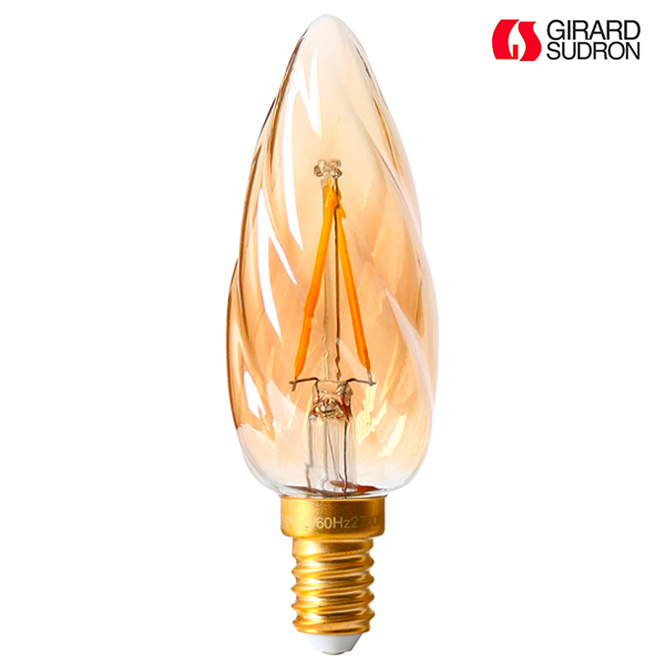 ampoule led filament e14 2w torsad e f6 ambr e girard sudron ampoules service. Black Bedroom Furniture Sets. Home Design Ideas