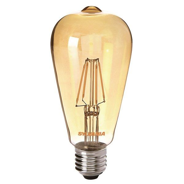 ampoule edison filament led toledo retro vintage e27 4w ambr e sylvania ampoules service. Black Bedroom Furniture Sets. Home Design Ideas