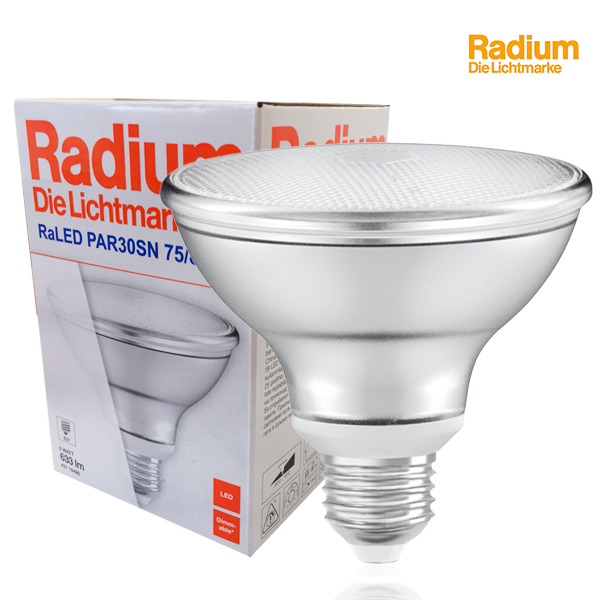 Réflecteur RaLED Star PAR30 E27 8W 633lm 2700K Dimmable D95mm Radium