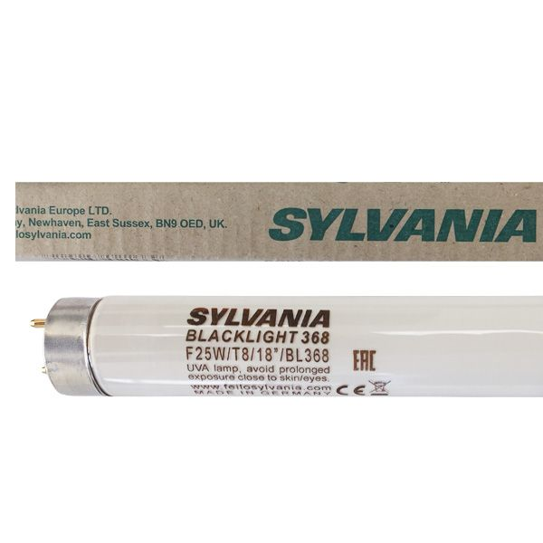 Tube fluorescent G13 T8 25W BlackLight BL368 Linear Non Gainé Sylvania