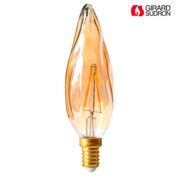 ampoule led filament e14 2w flamme torche gs8 ambr e girard sudron ampoules service. Black Bedroom Furniture Sets. Home Design Ideas