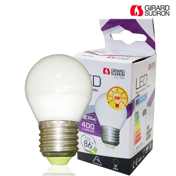 ampoule led e27 5w 400lm sphérique dimmable girard sudron | ampoules