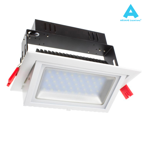 Projecteur LED Rectangulaire Orientable 20W 3000K Blanc IP20 Ariane