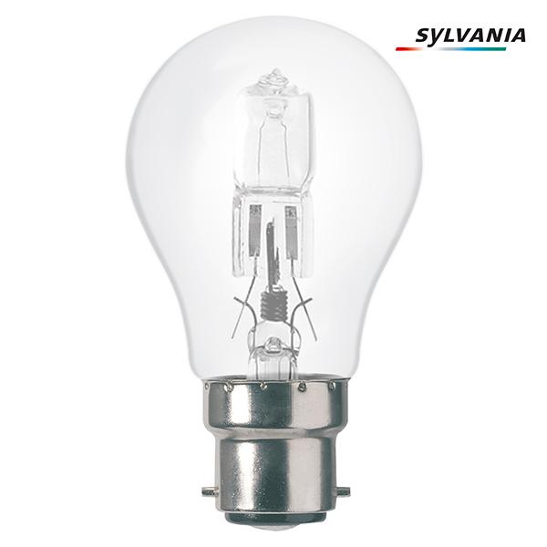 ampoule halog ne standard eco b22 70w sylvania ampoules service. Black Bedroom Furniture Sets. Home Design Ideas