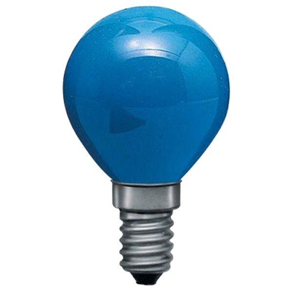 ampoule incandescence e14 sph rique 15w bleu general electric ampoules service. Black Bedroom Furniture Sets. Home Design Ideas