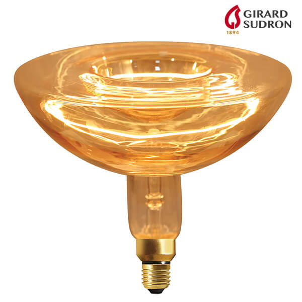 "Ampoule LED à Filament E27 4W 280lm ""Ring"" Géante 2000K Dimmable Girard Sudron"