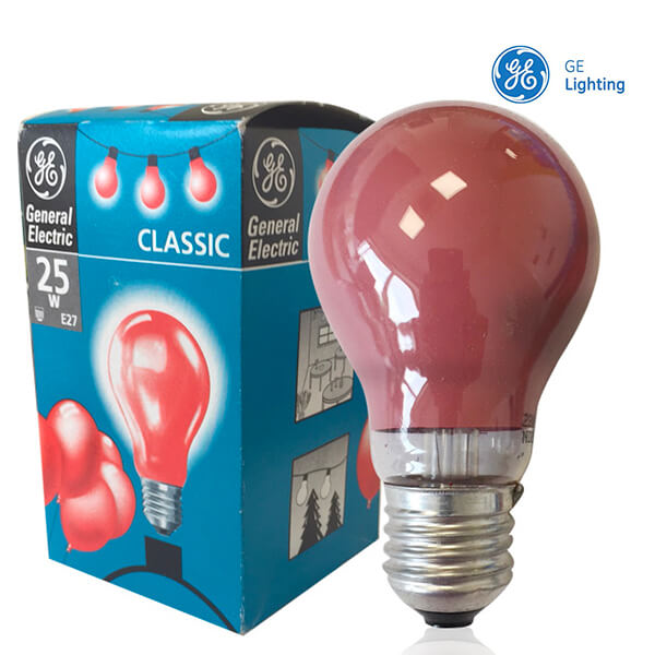 Ampoule à incandescence E27 Standard 25W Rouge General Electric