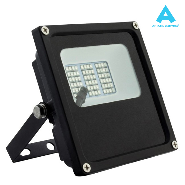 Projecteur LED 10W RGB Noir 120° IP66 Ariane