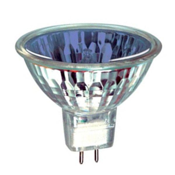 ampoule halog ne dichro que gu4 12v 20w 10 bleu orbitec ampoules service. Black Bedroom Furniture Sets. Home Design Ideas