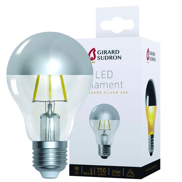 Ampoule LED à filament Standard E27 6W Calotte argentée Girard ...