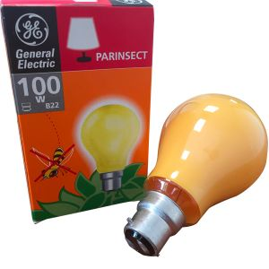 Ampoule à incandescence B22 standard Anti-insecte 100W General Electric