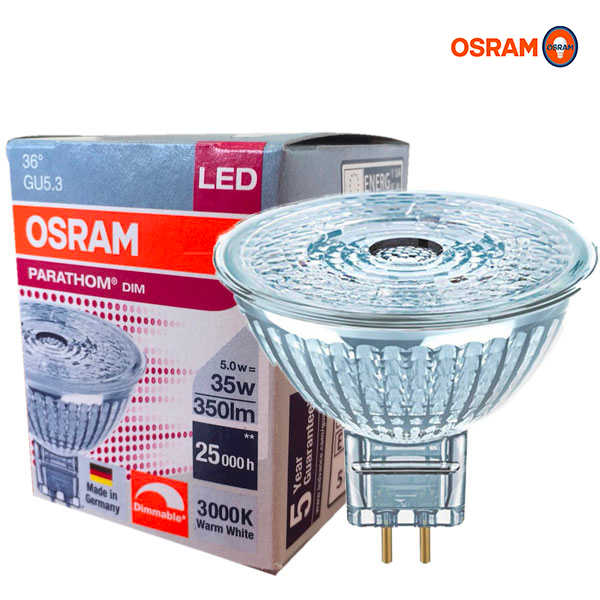 Réflecteur LED PARATHOM MR16 DIM GU5.3 5W 3000K Osram