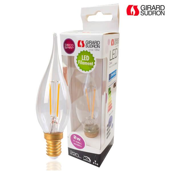 346d65a0d7478 Ampoule LED à filament E14 2W flamme