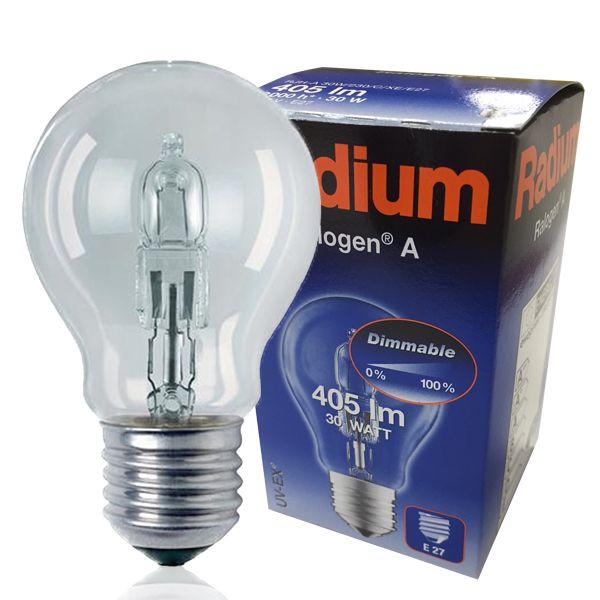 Ampoule 30w Radium Ralogen E27 Standard Halogène 2700k 08vmNnw