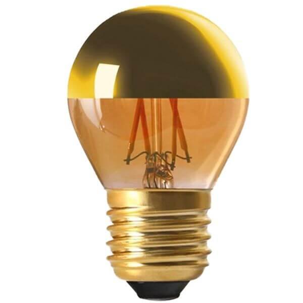 ampoule filament led e27 4w sph rique calotte dor e dimmable girard sudron ampoules service. Black Bedroom Furniture Sets. Home Design Ideas