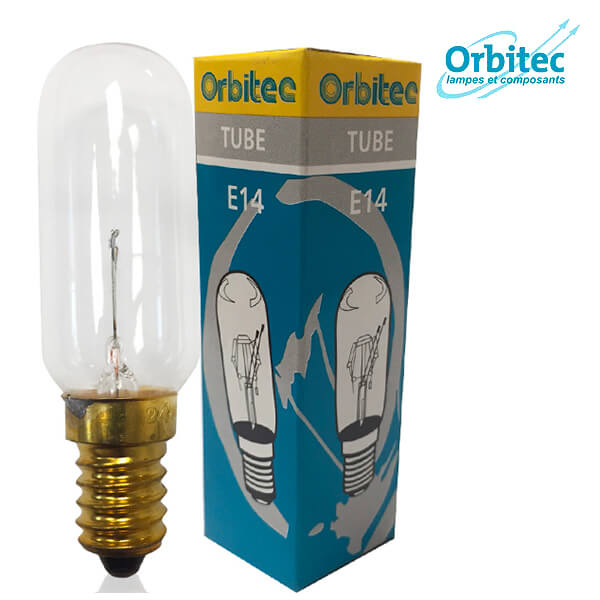 Tube à incandescence E14 40W 24V Clair Orbitec