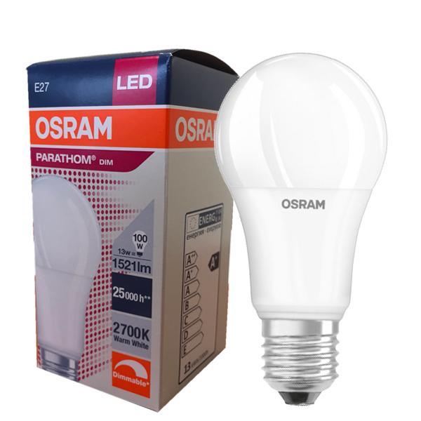 Ampoule Led E27 13w 2700k Parathom Classic A Dimmable Osram