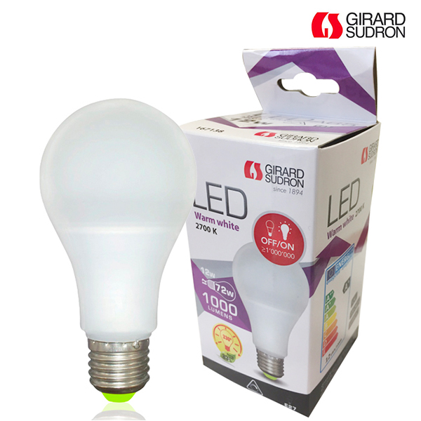 Ampoule LED E27 12W 1000lm Standard Dimmable 2700K Girard Sudron