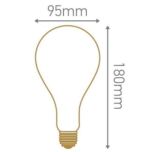 ampoule led g ante filament twisted e27 4w ambr e dimmable girard sudron ampoules service. Black Bedroom Furniture Sets. Home Design Ideas