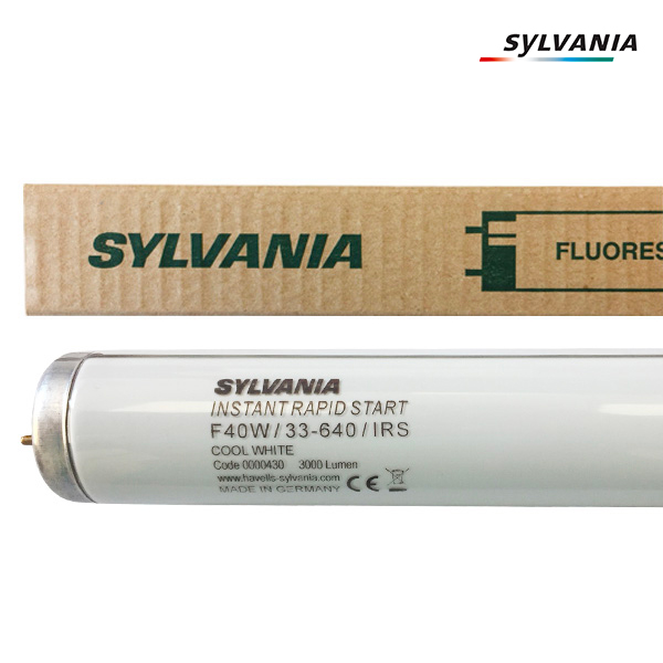 Tube fluorescent G13 T12 40W Instant Rapid Start 4300K Sylvania