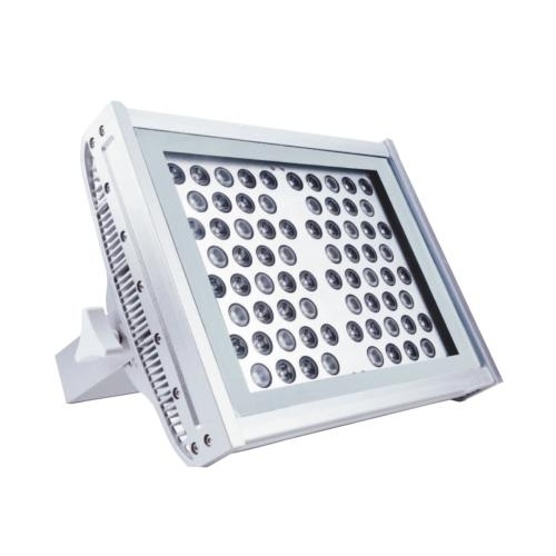 Projecteur LED RAYS 72x2W 230V RGB 45° IP65 Full Couleur en Aluminium Gris